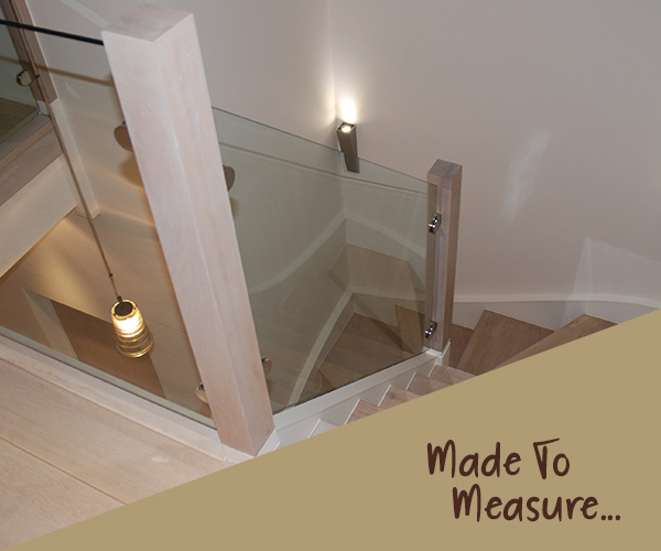 Custom Made To Measure Stair Glass