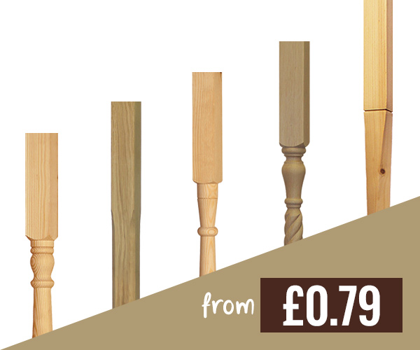 Stair Parts Timber Spindles